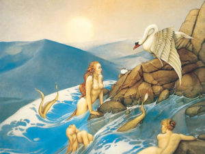 mermaids and swan